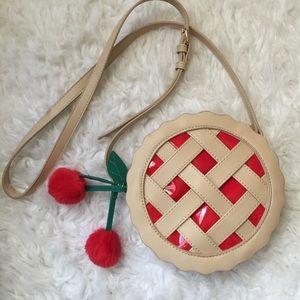 Forever 21 Cherry Pie Design Crossbody Bag.